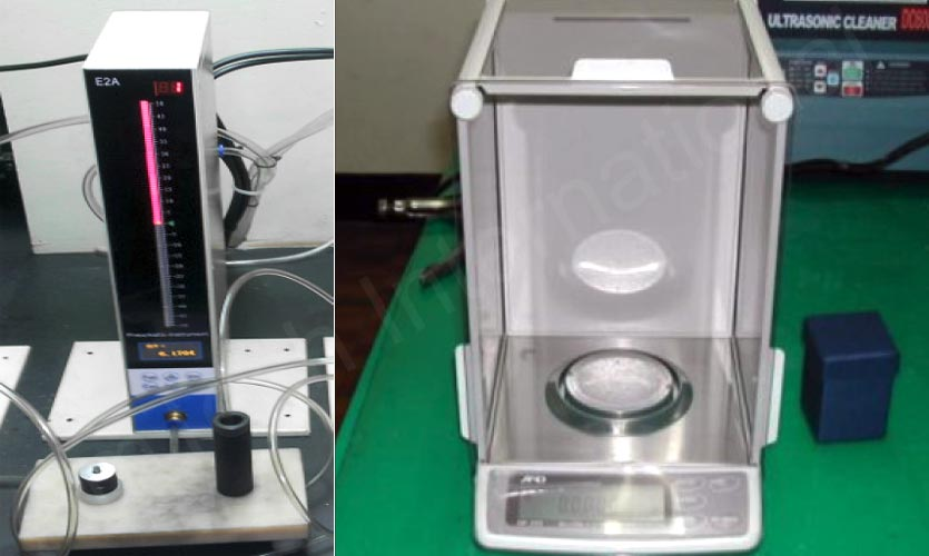 Air Gauge inspection machine and Weight Contamination test