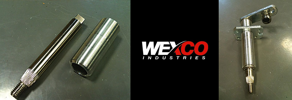 Wexco Pivot Shaft, Housing, Assembly for Windshield wipers.