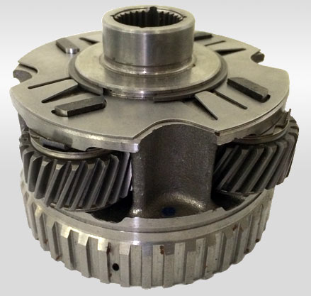 Planet gears used in a powertrain application